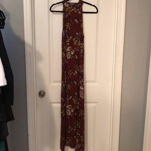 Floral highneck maxi, worn once, boutique